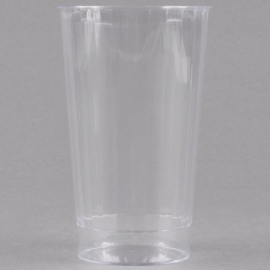 Fineline Settings Hard Plastic Crystal Tumbler 16oz Speciality Food Service Supplies Clear - FNL2416CL - 20/pk