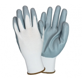 Nitrile Foam Coated Nylon Black Gloves Large - G-NIDEX-LG-GF - 12 Pair