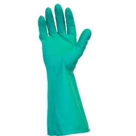 SafetyZone Nitrile Gloves, 13in Green Flock Lined X-Large - GNGF-XL-15C - Pair, 144pr/cs