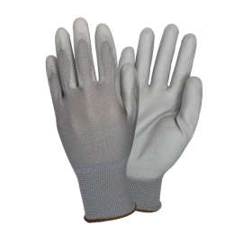 Polyurethane Coated Nylon Knit Glove Large - GNPU-LG-4-GY-GY - Pair, 6dz/cs