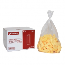 RiteSource 4LB Clear Polybags - GP4 - 500/bx