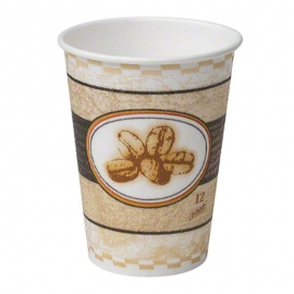 DIXIE PerfecTouch Beans Paper Hot Cups 12oz - GP5342BE - 1000/cs