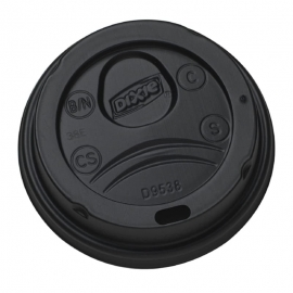 DIXIE Black Dome Hot Cup Lid 8oz - GPPDL9538B - 1000/cs