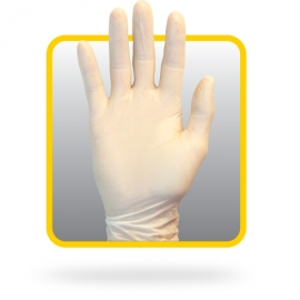 SafetyZone Latex Gloves Large 4mil, Light Powder (LP) - GRDR-LG-1-T - 100/bx, 10 bx/cs