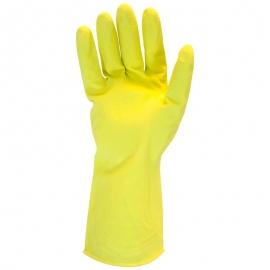 "Rubber Latex Gloves, 12in Long, Yellow, Medium 16mil, Frock Lined - GRFYMD1C - 12pr/pk, 120pr/cs, Flock Lined, 12"" Long"