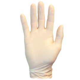 SafetyZone Latex Gloves Medium 4mil, Powder-Free (PF) - GRPM1T - 100/bx, 10bx/cs, CFIA Approved, 4 mil