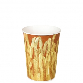 Dart Solo Grease-Resistant 12 oz French Fry Paper Cups - GRS12-00021 - 1000/cs