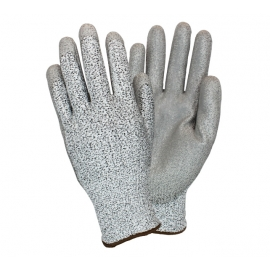 PU Coated Palm Cut Resistant 3 Gloves Large - GS13LGCYPU