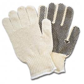 Cotton Sting Knit Gloves with Dots Medium - GSBSMD2P20 - 12pr/bg, 240pr/cs