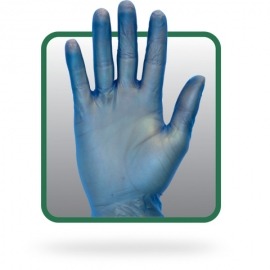 SafetyZone Vinyl Gloves, Blue Small Powder-Free - GVP9SM1BL - 100/bx, 10bx/cs