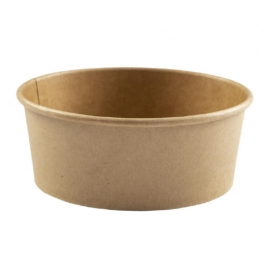 "Hy-Pax Eco Kraft Paper Bowl 8""x3"" - HPEPBWL26 - 300/cs"
