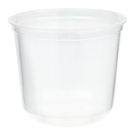 24oz Clear Deli Plastic Containers - HT24-99A - 500/cs