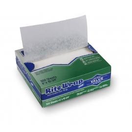 "Dixie RiteWrap Paper Waxed Deli Sheets 6"" x 10.75"" - HWCEZ5 - 500/bx"