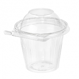 Inline Grab N Go Clear Cup With Tear Tab Dome Lid 12oz Tamper Evident & Temper Resistant - INLTS12CCRD - 256/cs