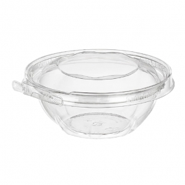 Inline Tamper Clear Round Hinged Container 12oz Tamper Evident & Temper Resistant - INLTS12RN - 240/cs