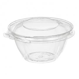 Inline Tamper Clear Round Hinged Container 16oz Tamper Evident & Temper Resistant - INLTS16RN - 240/cs