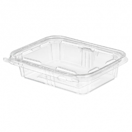 Inline Tamper Clear Rectangular Container 20oz Single Compartment - INLTS20 - 200/cs