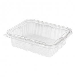 Inline Tamper Clear Rectangular Hinged Container 48oz Single Compartment - INLTS48 - 150/cs