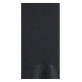 "Lapaco 2Ply Black Dinner Napkins 15-1/2"" x 16"" - LPC511113 - 1000/cs"