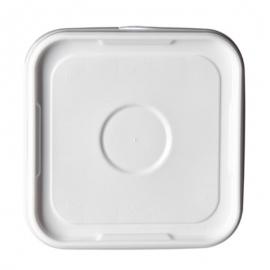 Square White Lid for PS1500 Square Plastic Pail - LS1500