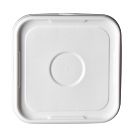 Square Tamper Evident White Lid for PS800 Plastic Pail - LS815