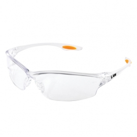Law® LW2, Clear Lens Safety Glasses Orange Temple Inserts - LW210