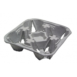 Pactiv 4 Cup Carry Out Trays - M510032 - 300/cs