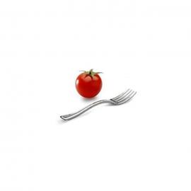 Sabert Silver Look Mini Tasting Fork Plastic Cutlery - MMTF500S - 500/cs