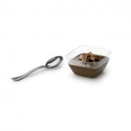 Sabert Silver Look Mini Tasting Spoon Plastic Cutlery - MMTS500S -