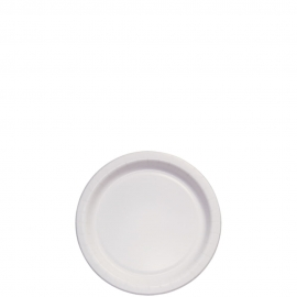 "Dart Solo 6"" White Coated Paper Plates - MP6B-2054 - 1000/cs"