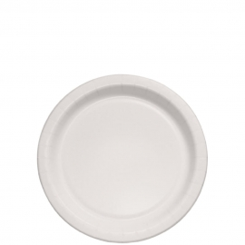 "Dart Solo 9"" White Coated Paper Plates - MP9B-2054 - 500/cs"