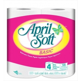 April Soft 2 ply Retail Paper Towels 135 Sheets - N5489B3 - 4rl/cs