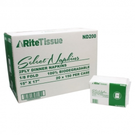 RiteTissue 2ply Dinner Napkin - ND200 - 3000/cs