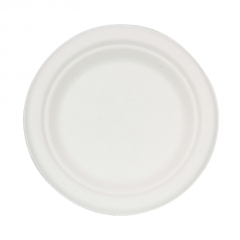 "RiteEarth 6"" Bagasse Round Plates - P060 - 500/cs"