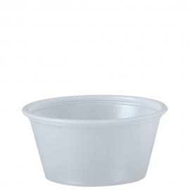 Dart Solo Soufflés Translucent 2 oz Plastic Portion Cups - P200N - 250/cs