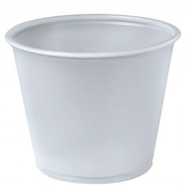 Dart Solo Soufflés Translucent 5.5 oz Plastic Portion Cups - P550N - 2500/cs
