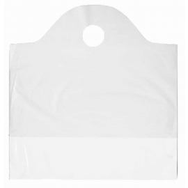 "Hymopack No. 302 Poly-O-Sacs White, 16"" x 15"" x 3"" Wave-Top Bags - PH30200 - 1000/cs"