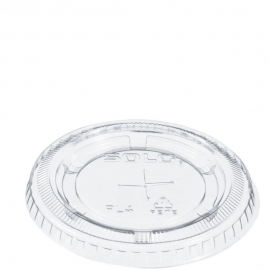 Dart Solo Ultra Clear Soufflés PET Flat Lid Straw Slot fist UR55 Plastic Portion Cups - PL4TSN - 2500/cs