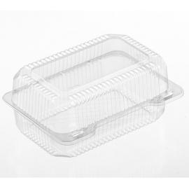PAR-PAK Extra Deep Clear Hinged Lunch Box - PLR02419 - 250/cs