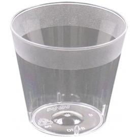 PAR-PAK Clear Cometware Shot Glass 1oz Polystyrene - PLRSG10 - 2500/cs