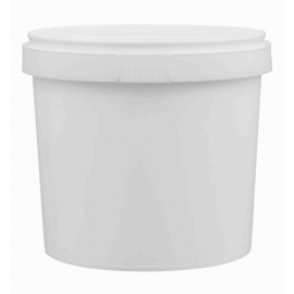 White Tamper Evident Pail with Handle - PR1100
