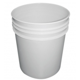 White Plastic Pail with Metal Handle - PR1700