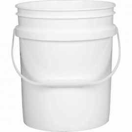 20L White Plastic Pail with Handle - PR2000001PHS0204