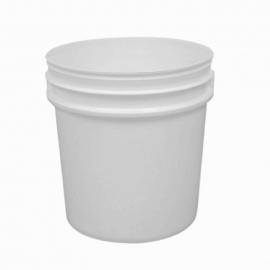 2LT White Plastic Pail with Handle - PR2300