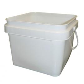 Square White Plastic Pail - PS1500