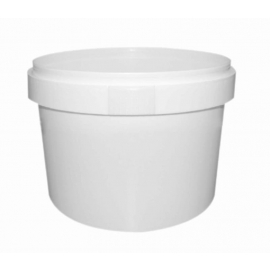 5.3L White Plastic Pail - Pr53