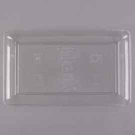 """Fineline Settings Clear Plastic Rectangular Tray 12""""x18"""" Party Supplies - R473L - 20/cs"""