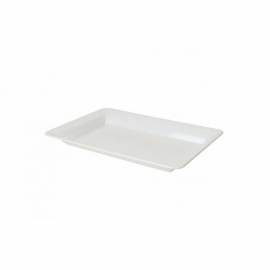 """Fineline Settings White Plastic Rectangular Tray 12""""X18"""" Catering Supplies - RC473WH - 20/cs"""