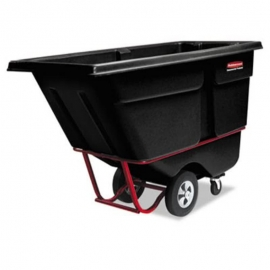 Rubbermaid 1315 Standard Duty Tilt Truck Waste Containers - RCP131500BLA - Each