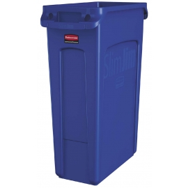 Rubbermaid Vented Slim Jim Waste Contianer 23gal Waste Containers - RCP1956185 - Each, 4/cs